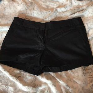 J.Crew Women's Black Chino shorts size 8
